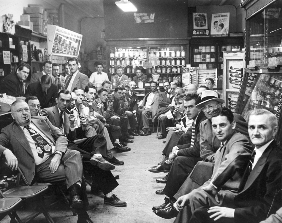 1950 Pipe Smoking Contest at Paul's Pipe Shop